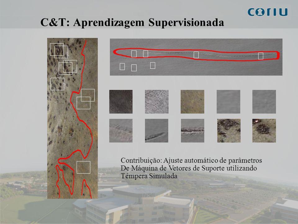 7 C&T: Pré-Processamento Pré-processamento: - Mudança de Espectro - Suavização - Limiarização - Detecção de Bordas - Operadores Morfológicos Saturação Superfície componente verde