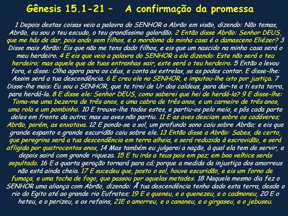 Gênesis 15.1-21 – Num céu de estrelas mais 7 lições 1.Confie em Deus 2.Na dúvida, pergunte ao Senhor.