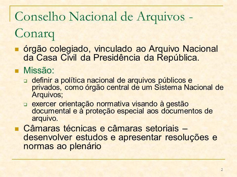 23 Resolução nº 20 Dispõe sobre a inserção dos documentos digitais em programas de gestão arquivística de documentos dos órgãos e entidades integrantes do Sistema Nacional de Arquivos.