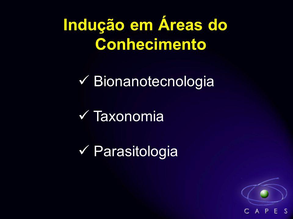 Indução em Áreas do Conhecimento Bionanotecnologia Taxonomia Parasitologia