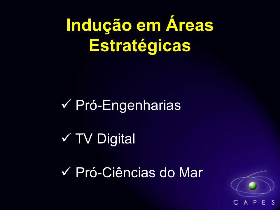 Indução em Áreas Estratégicas Pró-Engenharias TV Digital Pró-Ciências do Mar