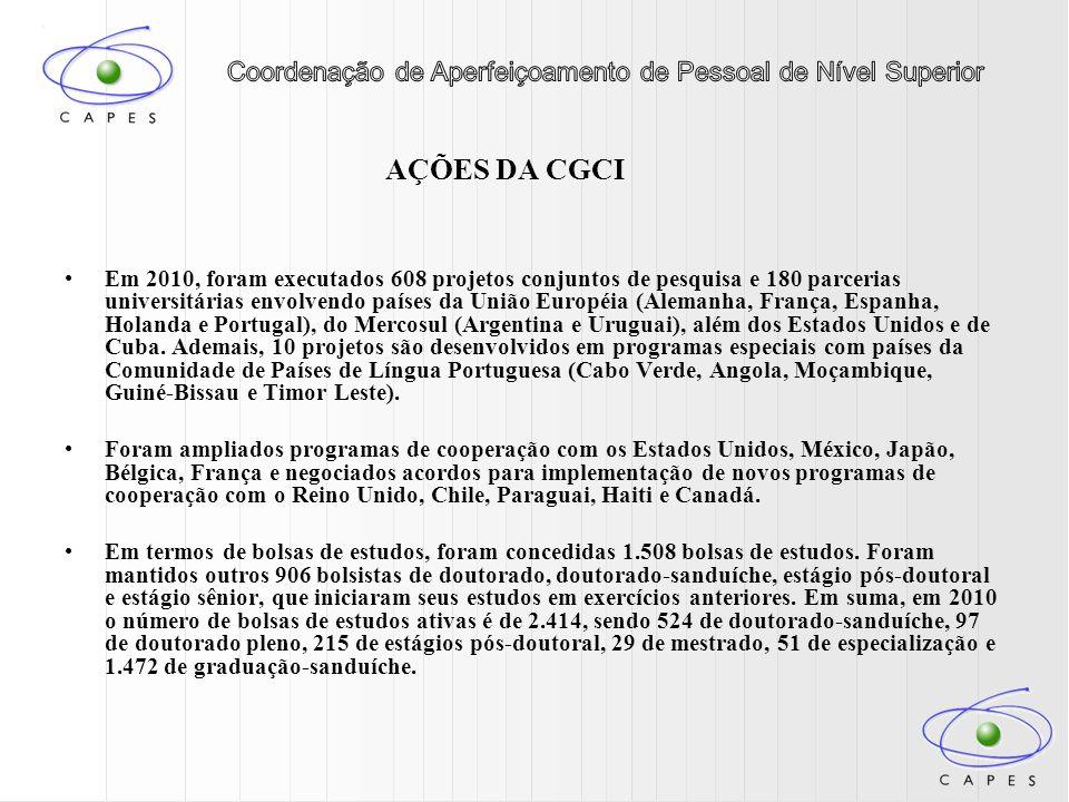 Dentre os princípios do Plano de Desenvolvimento Educacional, a Escola de Altos Estudos (Ação 0967) cumpre o papel de incentivar a formação de recursos humanos de alto nível acadêmico, contribuindo para a qualidade do corpo docente das universidades brasileiras.