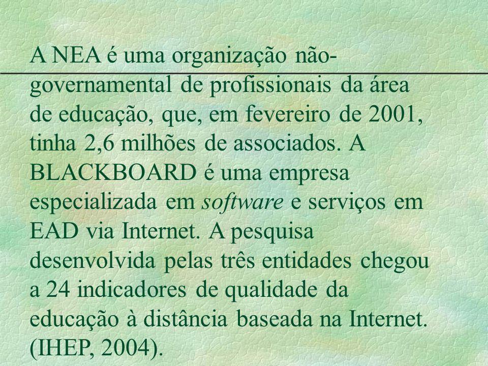 A NEA é uma organização não- governamental de profissionais da área de educação, que, em fevereiro de 2001, tinha 2,6 milhões de associados. A BLACKBO