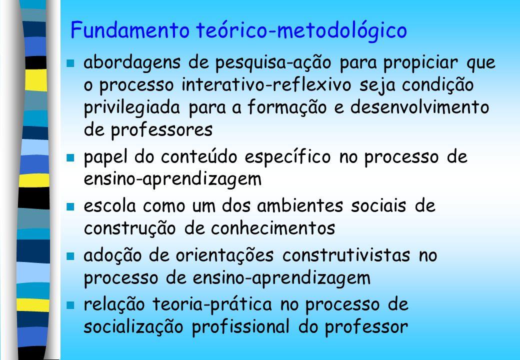 Fundamento teórico-metodológico n abordagens de pesquisa-ação para propiciar que o processo interativo-reflexivo seja condição privilegiada para a for