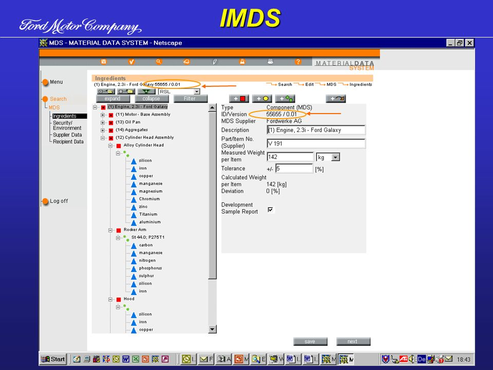Um conjunto complicado pode ser montado usando sub-conjuntos.IMDS