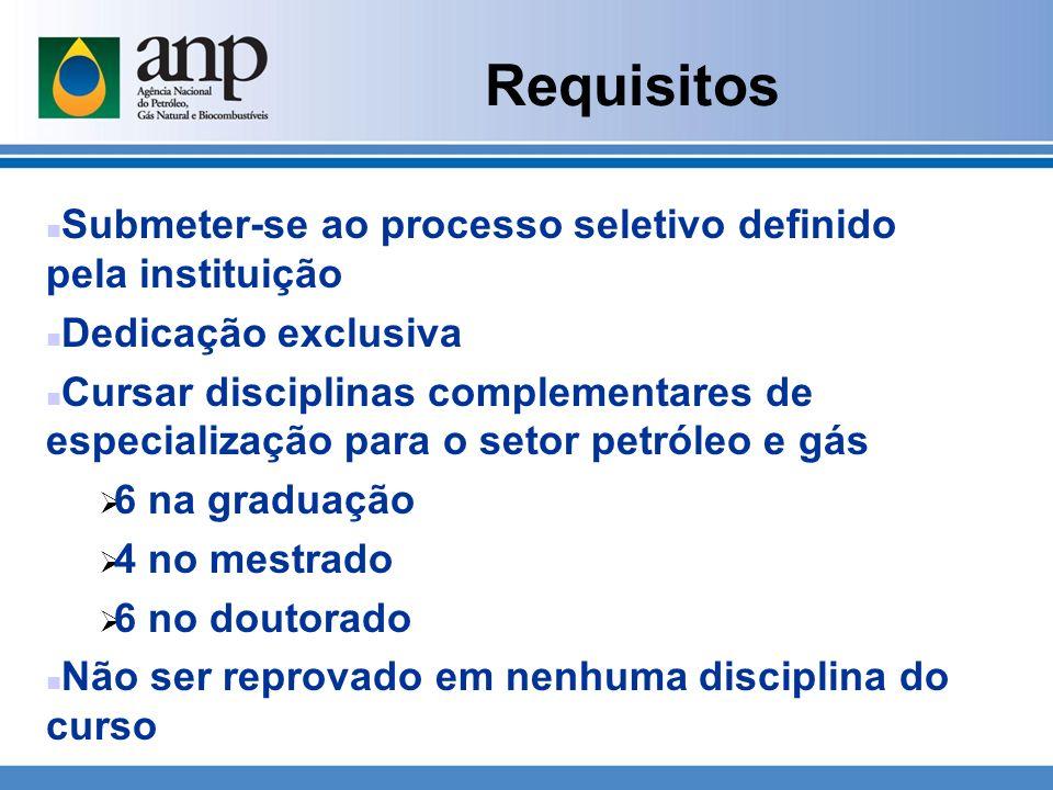Requisitos n Submeter-se ao processo seletivo definido pela instituição n Dedicação exclusiva n Cursar disciplinas complementares de especialização pa