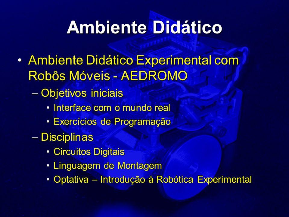 Ambiente Didático Ambiente Didático Experimental com Robôs Móveis - AEDROMOAmbiente Didático Experimental com Robôs Móveis - AEDROMO –Objetivos inicia