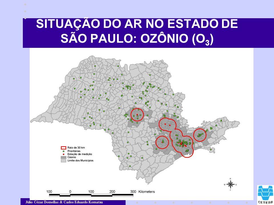 Júlio Cézar Dornellas & Carlos Eduardo Komatsu SITUAÇÃO DO AR NO ESTADO DE SÃO PAULO: OZÔNIO (O 3 )