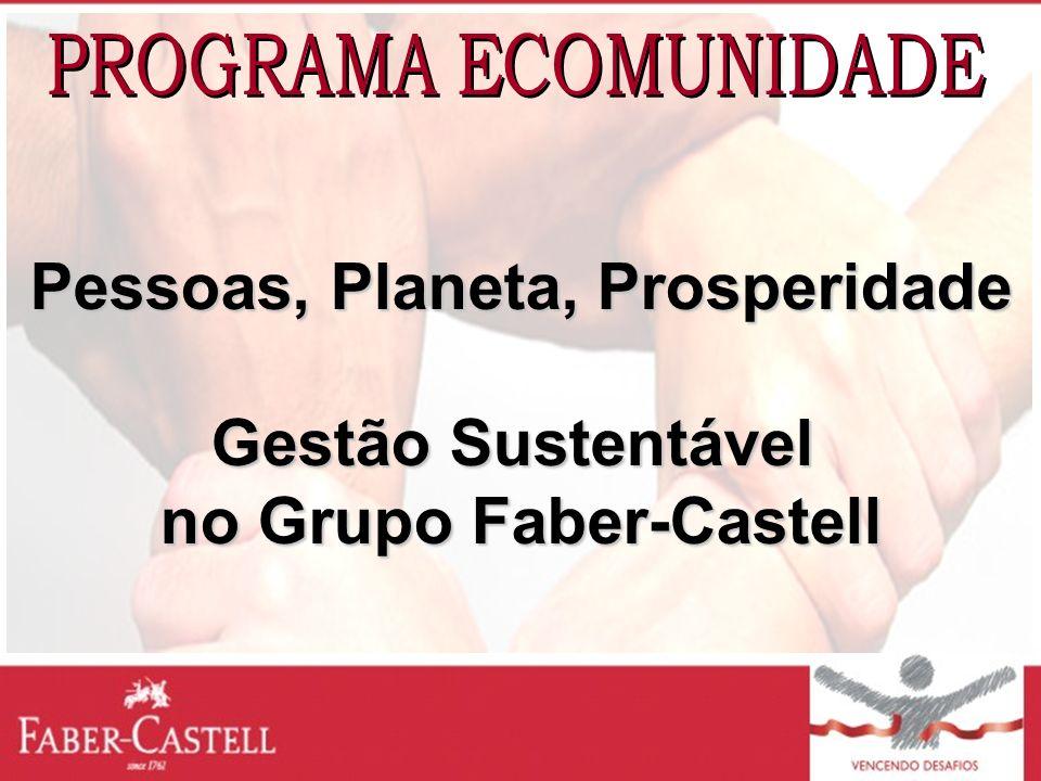 Pessoas, Planeta, Prosperidade Gestão Sustentável no Grupo Faber-Castell