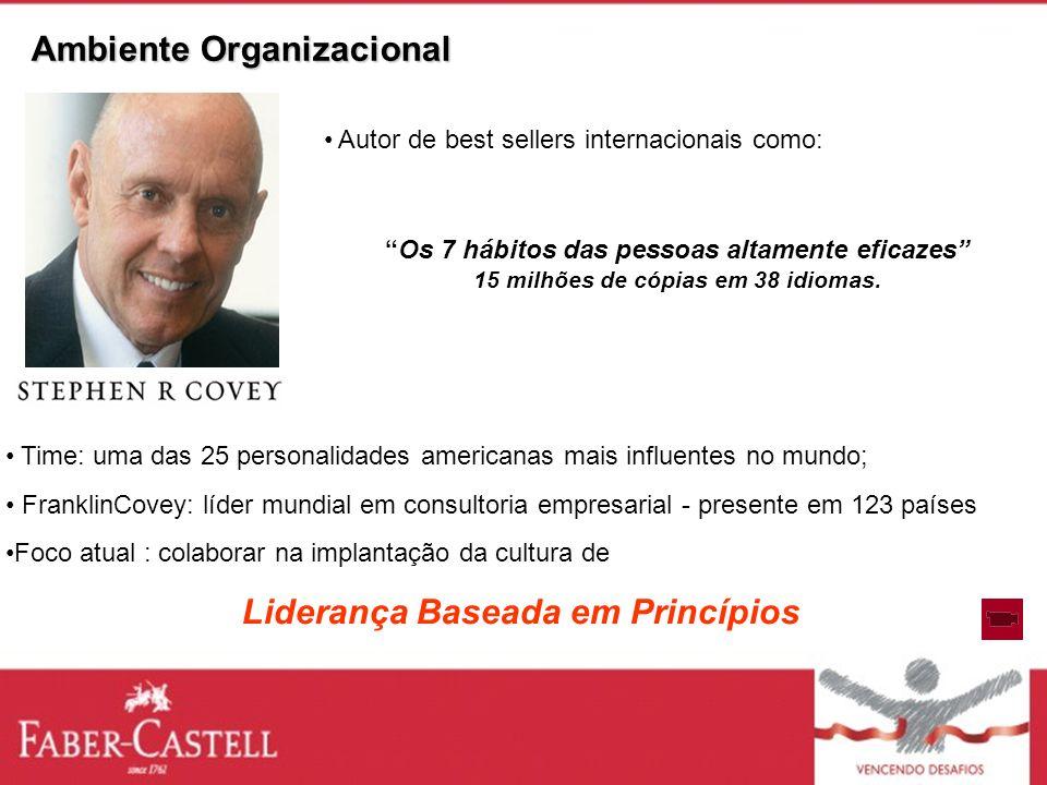 Time: uma das 25 personalidades americanas mais influentes no mundo; FranklinCovey: líder mundial em consultoria empresarial - presente em 123 países