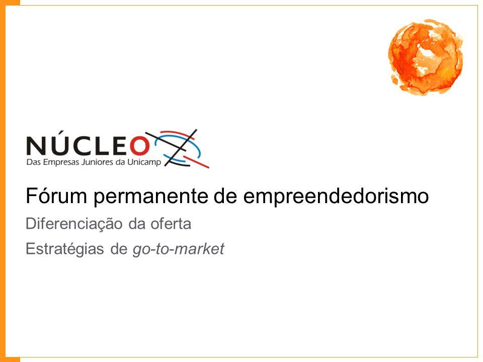Fórum permanente de empreendedorismo Diferenciação da oferta Estratégias de go-to-market