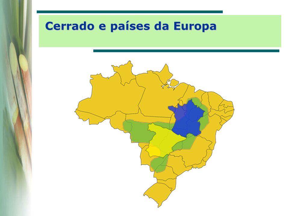 País Área cultivada [10 3 ha] Produção [10 6 ton] Brasil5.455411,0 Índia4.100244,8 China1.31693,2 Tailândia1.05063,7 Paquistão1.04952,0 Cuba70024,0 México63945,1 Austrália41536,9 Outros5.377347,1 Total20.1001.317,9 Fonte: FAO Produção mundial de cana-de-açúcar (2004)
