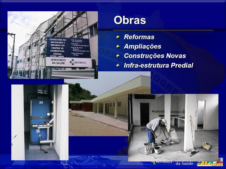 Obras ReformasAmpliações Construções Novas Infra-estrutura Predial