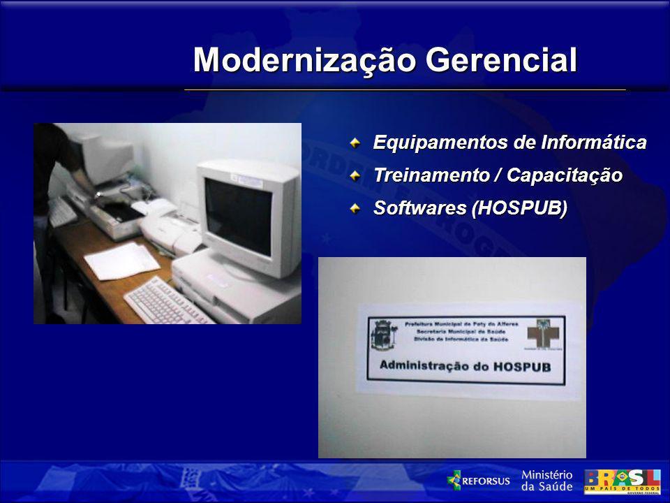 Modernização Gerencial Equipamentos de Informática Treinamento / Capacitação Softwares (HOSPUB)