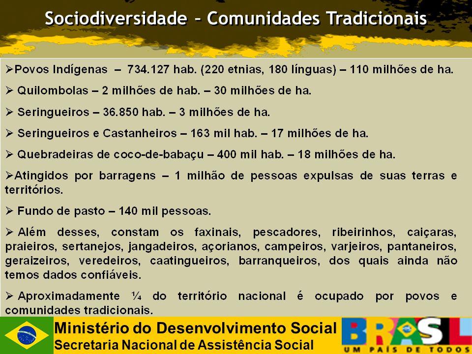 Sociodiversidade – Comunidades Tradicionais Ministério do Desenvolvimento Social Secretaria Nacional de Assistência Social