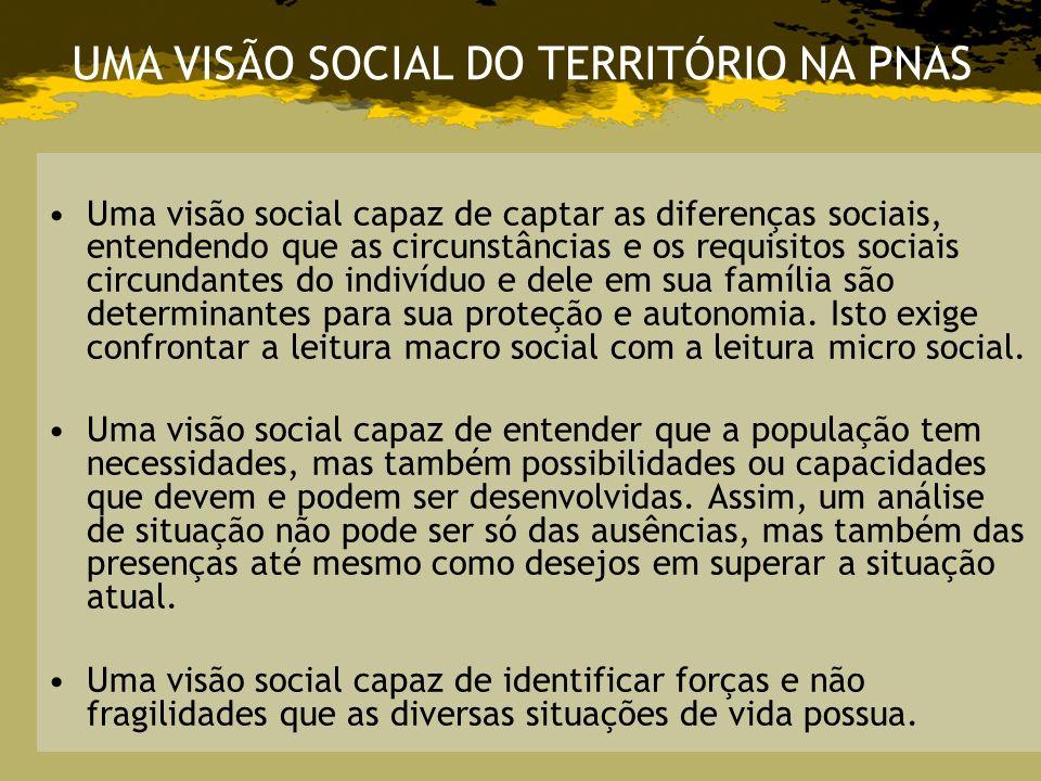 Uma visão social capaz de captar as diferenças sociais, entendendo que as circunstâncias e os requisitos sociais circundantes do indivíduo e dele em s