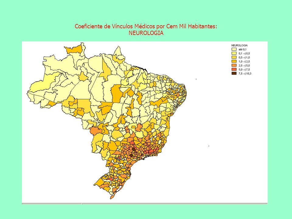 Coeficiente de Vínculos Médicos por Cem Mil Habitantes: NEUROLOGIA Coeficiente de Vínculos Médicos por Cem Mil Habitantes: ACUPUNTURA