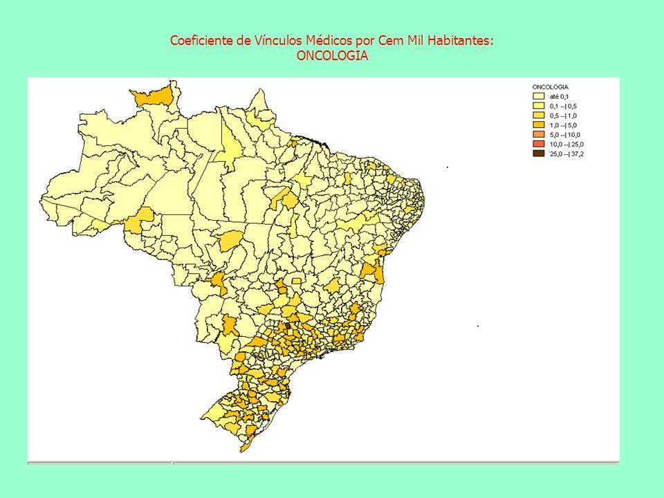 Coeficiente de Vínculos Médicos por Cem Mil Habitantes: ONCOLOGIA Coeficiente de Vínculos Médicos por Cem Mil Habitantes: ACUPUNTURA