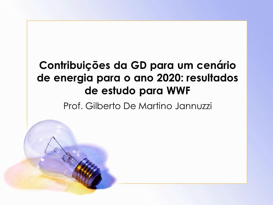 Contribuições da GD para um cenário de energia para o ano 2020: resultados de estudo para WWF Prof.