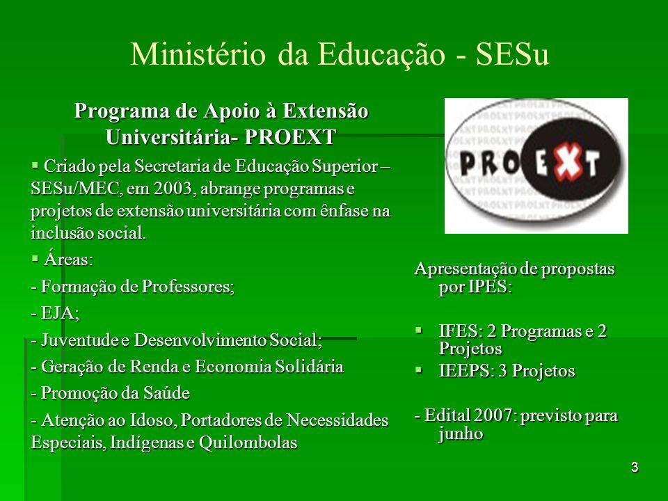 14 Ministério da Cultura Programa Monumenta / Valorização do Patrimônio Brasileiro Inscrições: Até dia 25.06.2007.