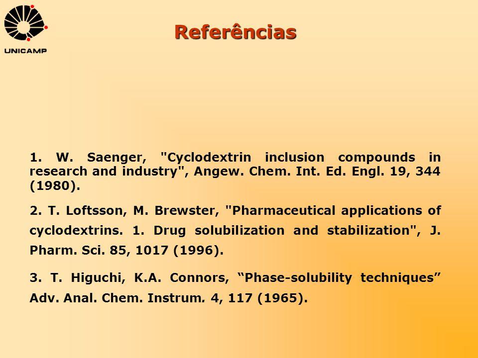 Referências 1. W. Saenger,