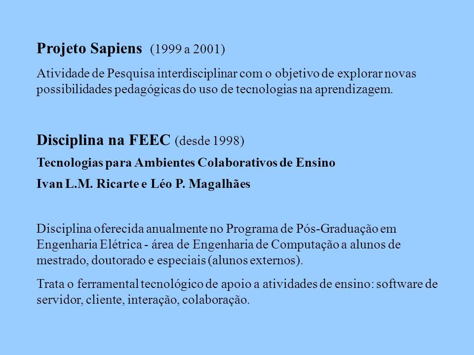 Sapiens Principais resultados realização de situações teste sob a óptica pedagógica um exemplo foi o estudo do Read in Web (Profa.