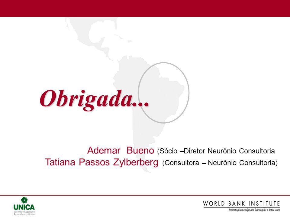 Obrigada... Ademar Bueno (Sócio –Diretor Neurônio Consultoria Tatiana Passos Zylberberg (Consultora – Neurônio Consultoria)
