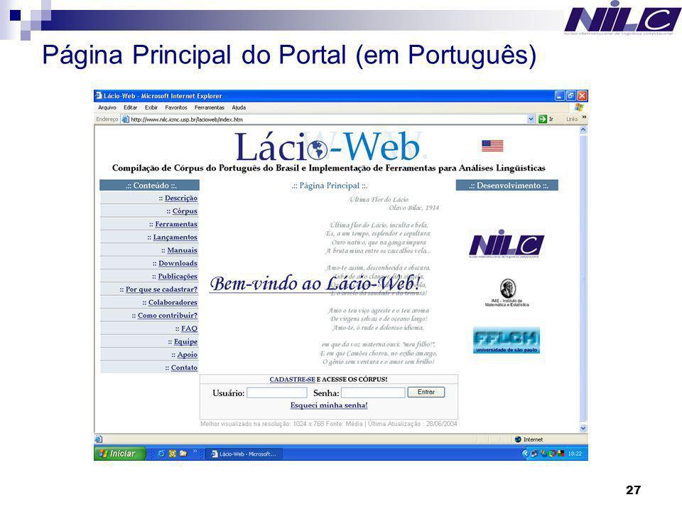 27 Página Principal do Portal (em Português)