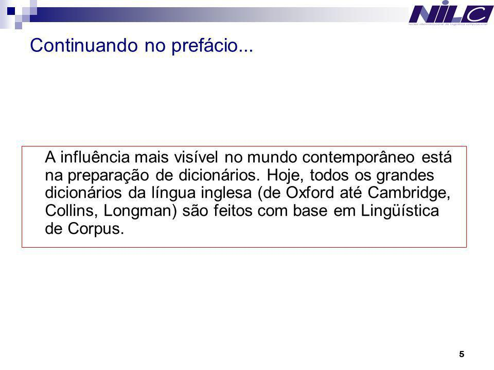 16 Exemplos de trabalhos e forma de trabalho no NILC The Núcleo Interinstitucional de Lingüística Computacional (NILC) was created in 1993 to foster research and development projects in Computational Linguistics and Natural Language Processing, such as Corpus and Lexicon Development, Automatic Summarization, Machine Translation, Writing Supporting Tools.
