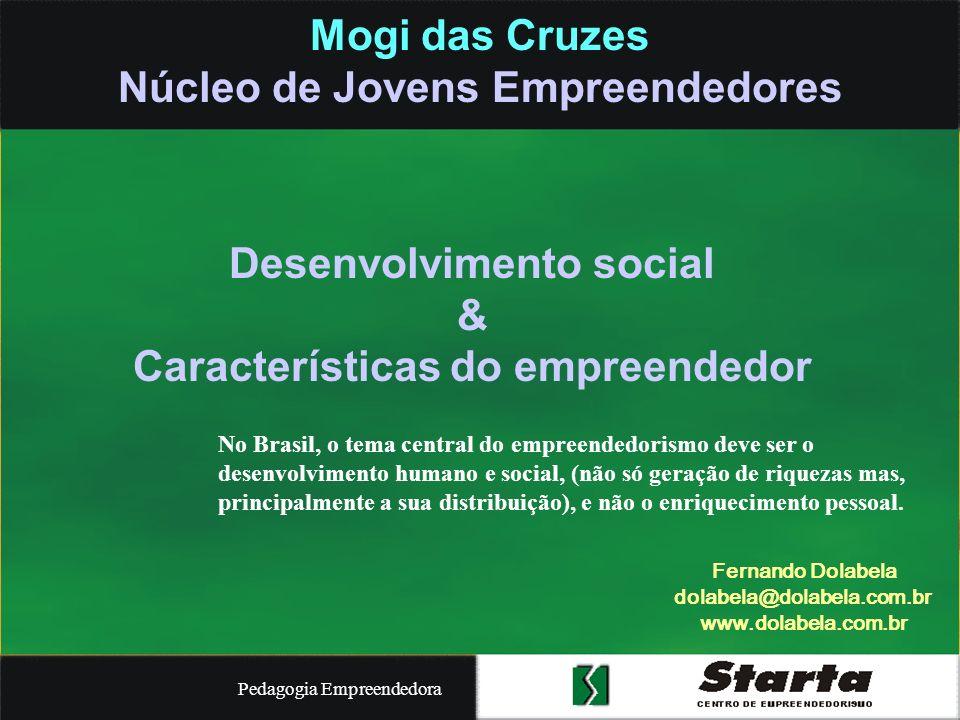 Pedagogia Empreendedora Ensino universitário Segunda fase: programas nacionais CNPq – Softex IEL – Sebrae Resultados –300 instituições de ensino no Brasil –2.500 Professores capacitados –24 estados e Brasília –80.000 alunos/ano