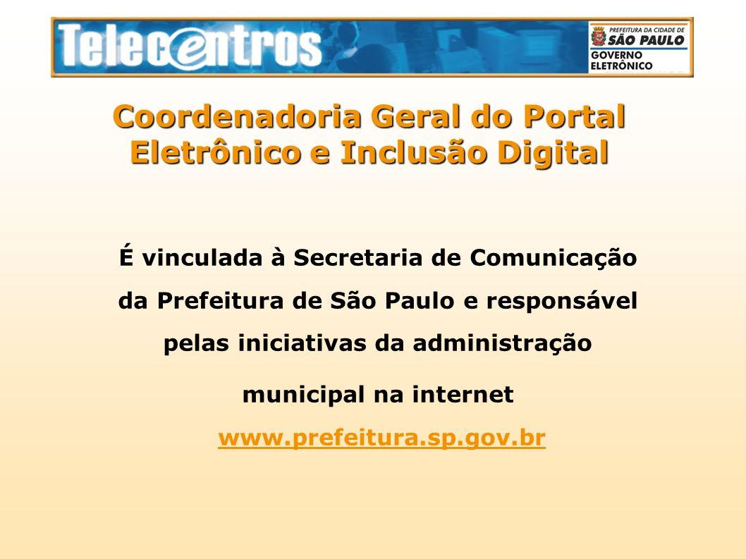 Telecentros - Prefeitura de São Paulo Neste ano, a Prefeitura de São Paulo e o Instituto Efort firmaram um convênio com o Instituto Nacional de Seguridade Social.