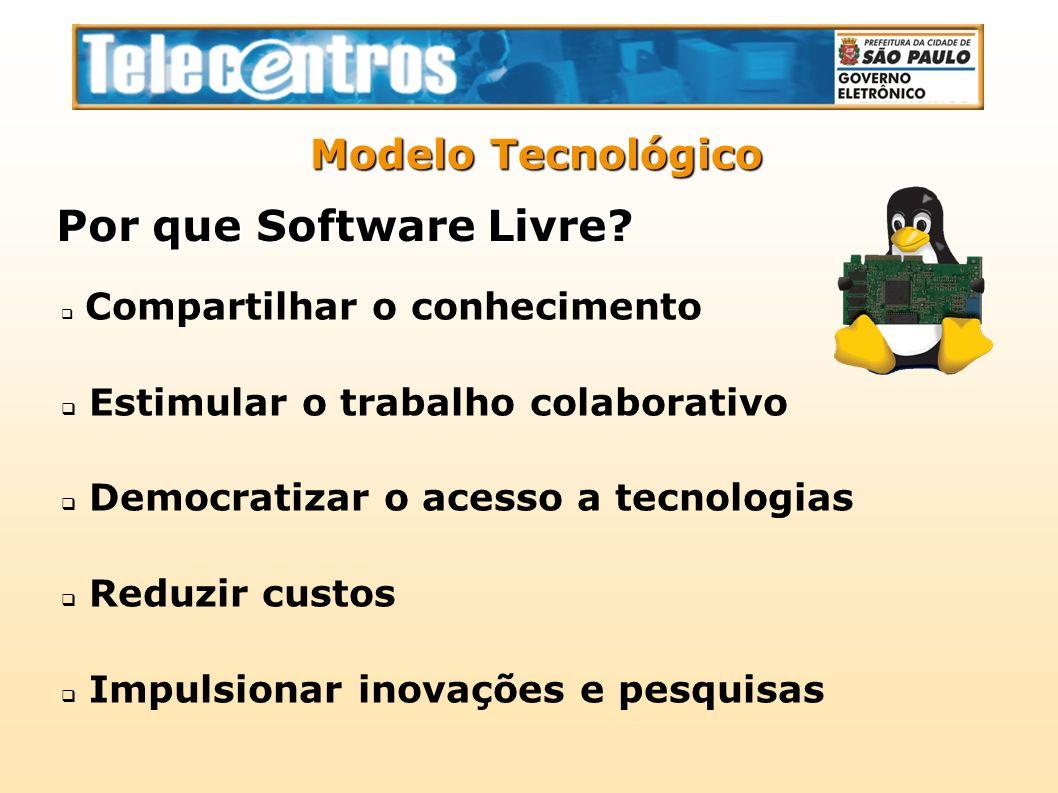 Compartilhar o conhecimento Estimular o trabalho colaborativo Democratizar o acesso a tecnologias Reduzir custos Impulsionar inovações e pesquisas Mod