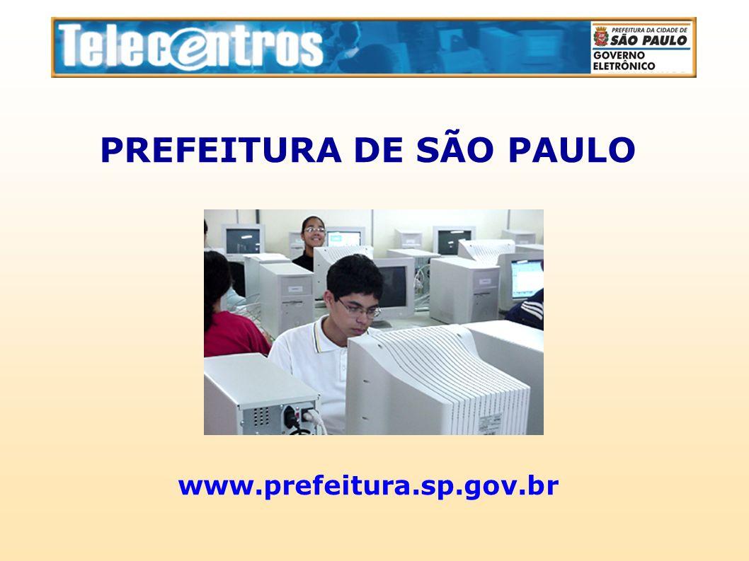 PREFEITURA DE SÃO PAULO www.prefeitura.sp.gov.br