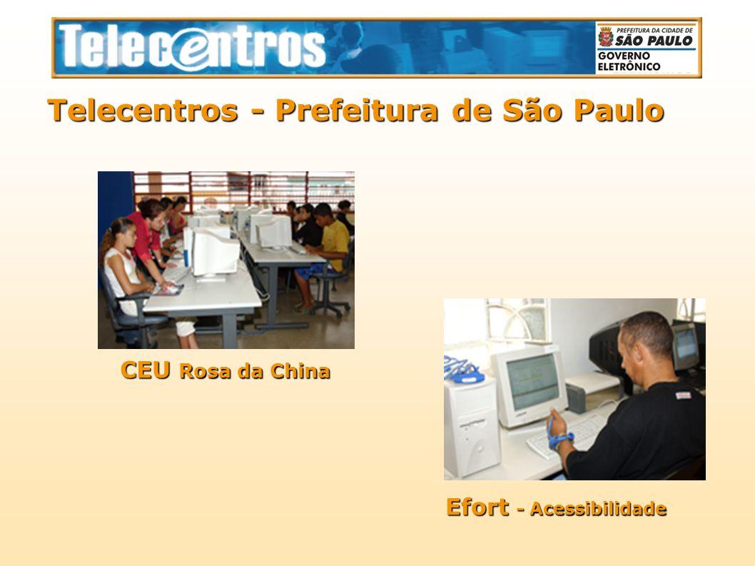 Telecentros - Prefeitura de São Paulo CEU Rosa da China Efort - Acessibilidade