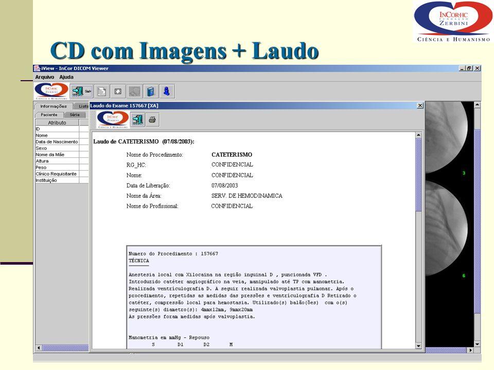 CD com Imagens + Laudo