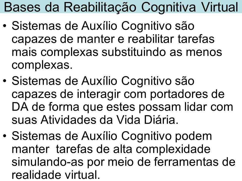 Sistemas de Auxílio Cognitivo são capazes de manter e reabilitar tarefas mais complexas substituindo as menos complexas. Sistemas de Auxílio Cognitivo