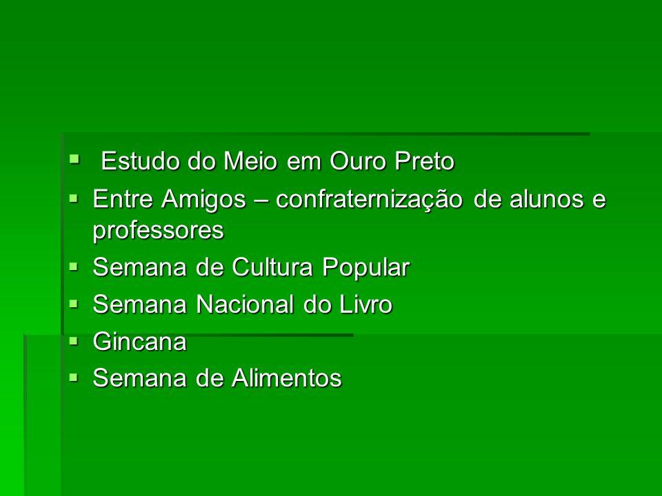 Estudo do Meio em Ouro Preto Estudo do Meio em Ouro Preto Entre Amigos – confraternização de alunos e professores Entre Amigos – confraternização de a