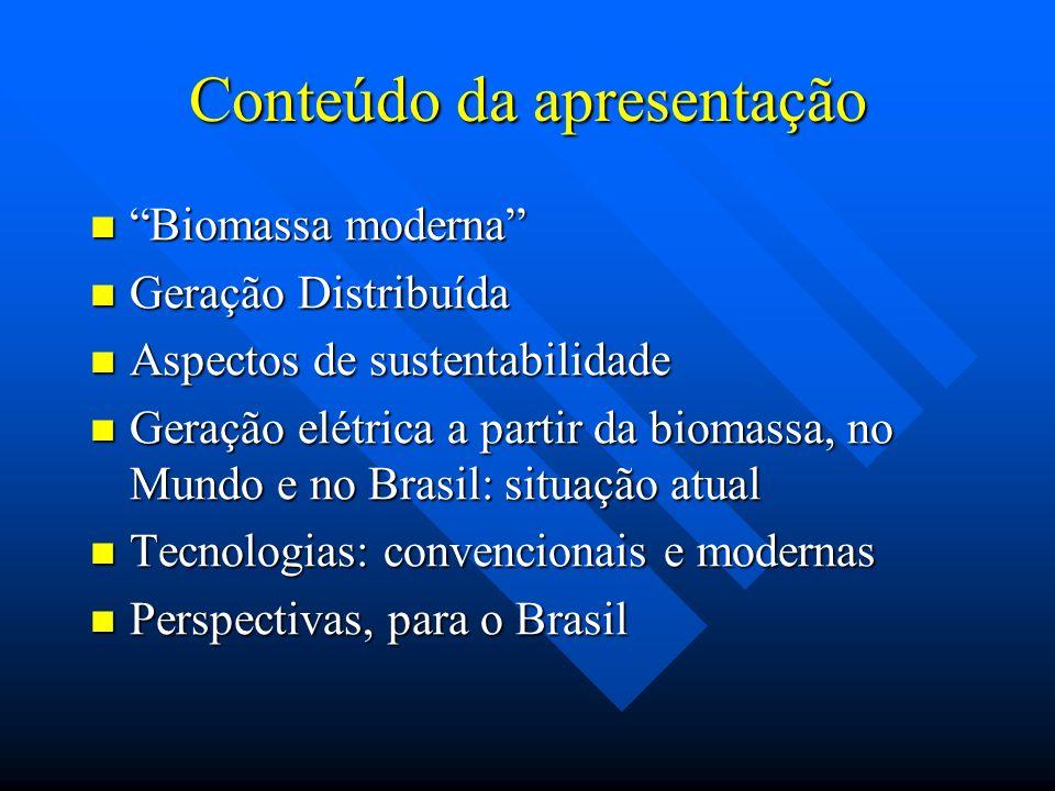 Perspectivas, no Brasil Esquema de sistema de cogeração com com turbinas de dupla extração e condensação