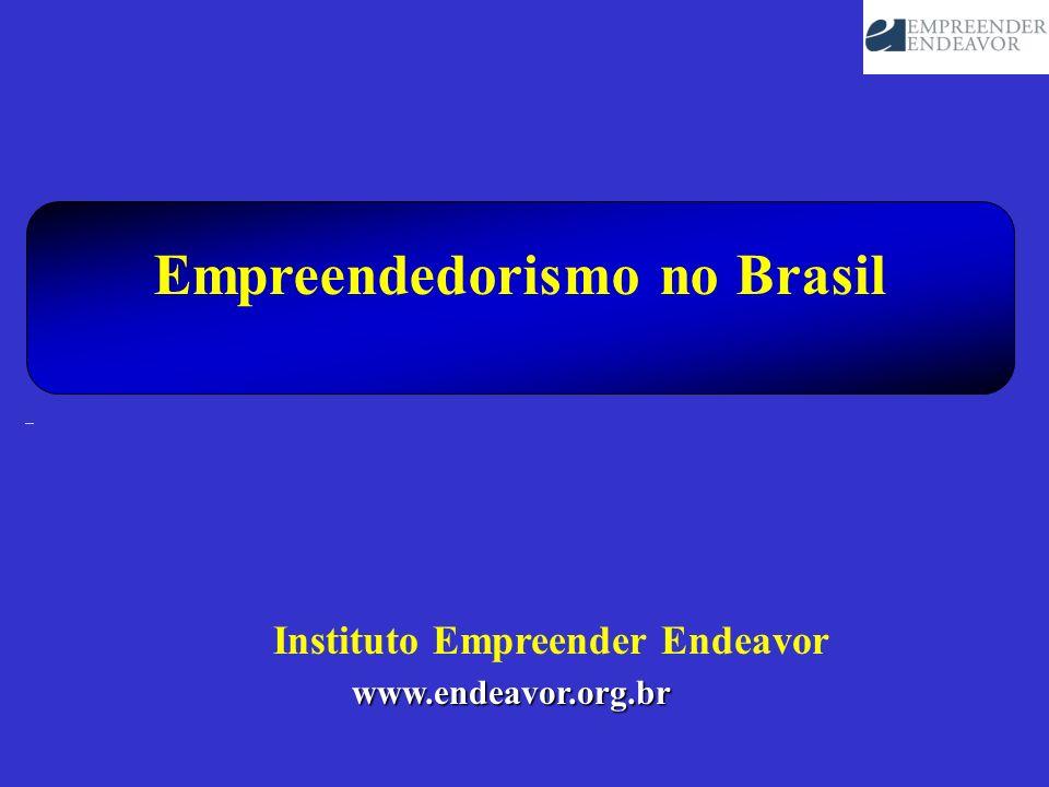 Empreendedorismo no Brasil www.endeavor.org.br Instituto Empreender Endeavor