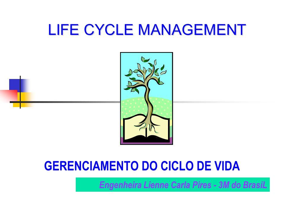 GERENCIAMENTO DO CICLO DE VIDA LIFE CYCLE MANAGEMENT Engenheira Lienne Carla Pires - 3M do BrasiL