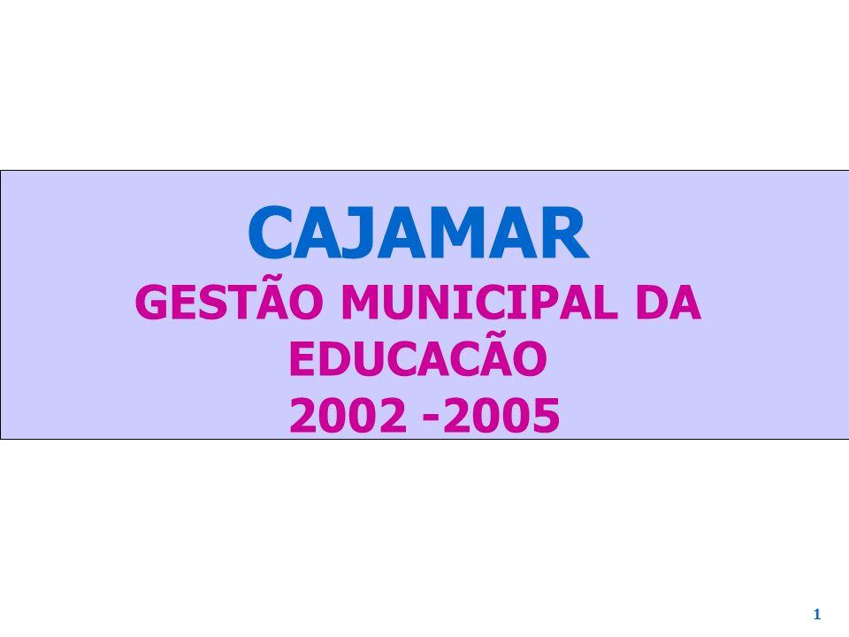 CAJAMAR GESTÃO MUNICIPAL DA EDUCACÃO 2002 -2005 1