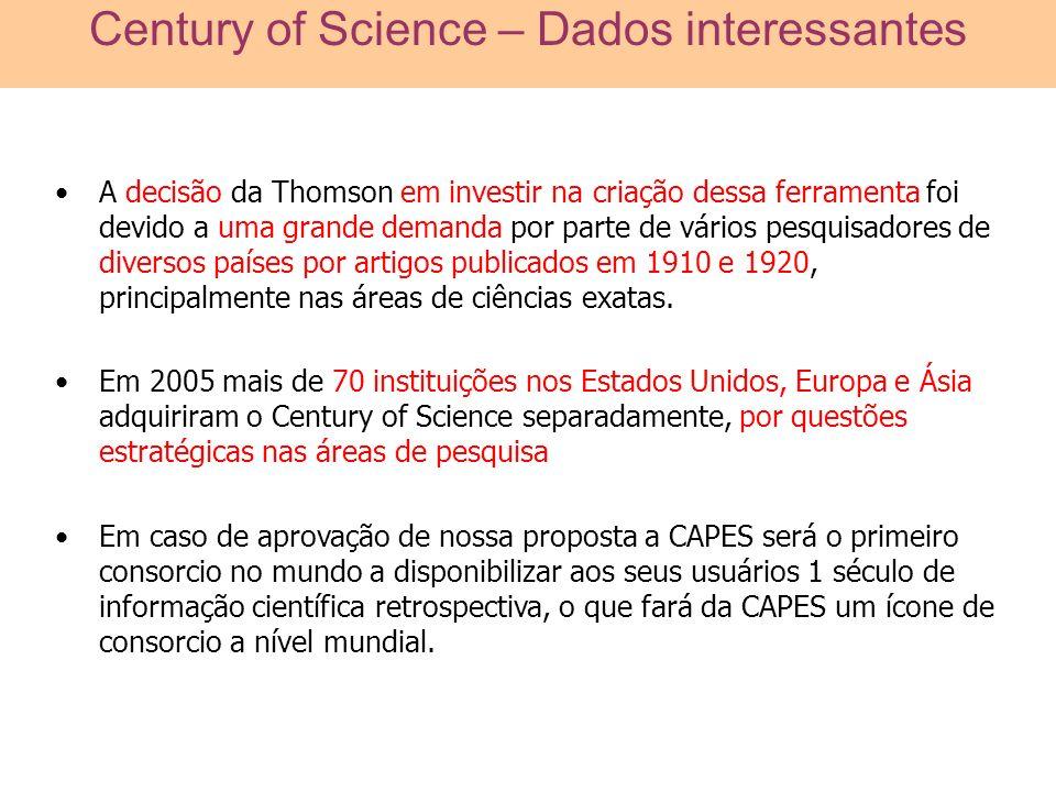 A decisão da Thomson em investir na criação dessa ferramenta foi devido a uma grande demanda por parte de vários pesquisadores de diversos países por