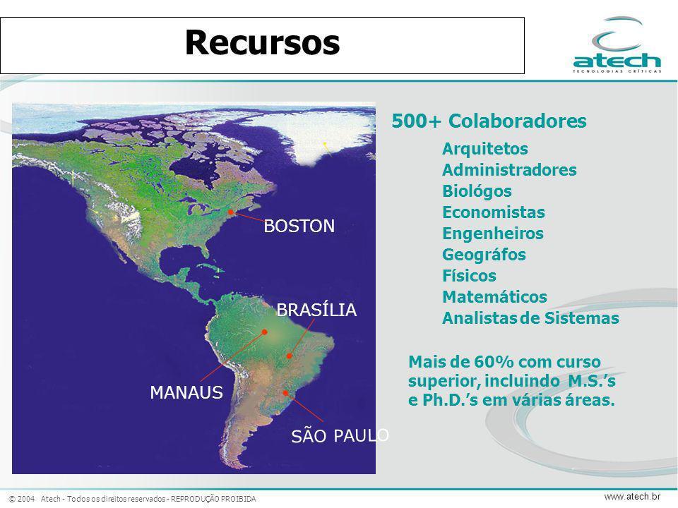 © 2004 Atech - Todos os direitos reservados - REPRODUÇÃO PROIBIDA www.atech.br BRASÍLIA SÃO PAULO MANAUS BOSTON Arquitetos Administradores Biológos Ec
