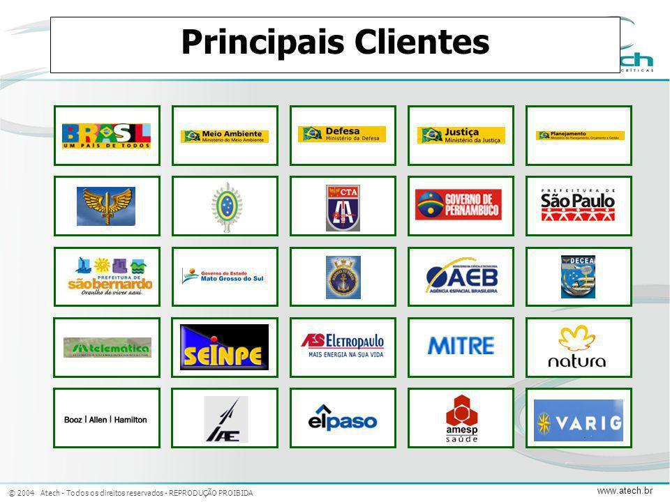 © 2004 Atech - Todos os direitos reservados - REPRODUÇÃO PROIBIDA www.atech.br Principais Clientes