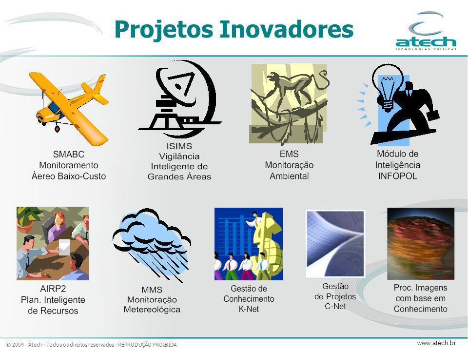 © 2004 Atech - Todos os direitos reservados - REPRODUÇÃO PROIBIDA www.atech.br Gestão de Projetos C-Net Projetos Inovadores