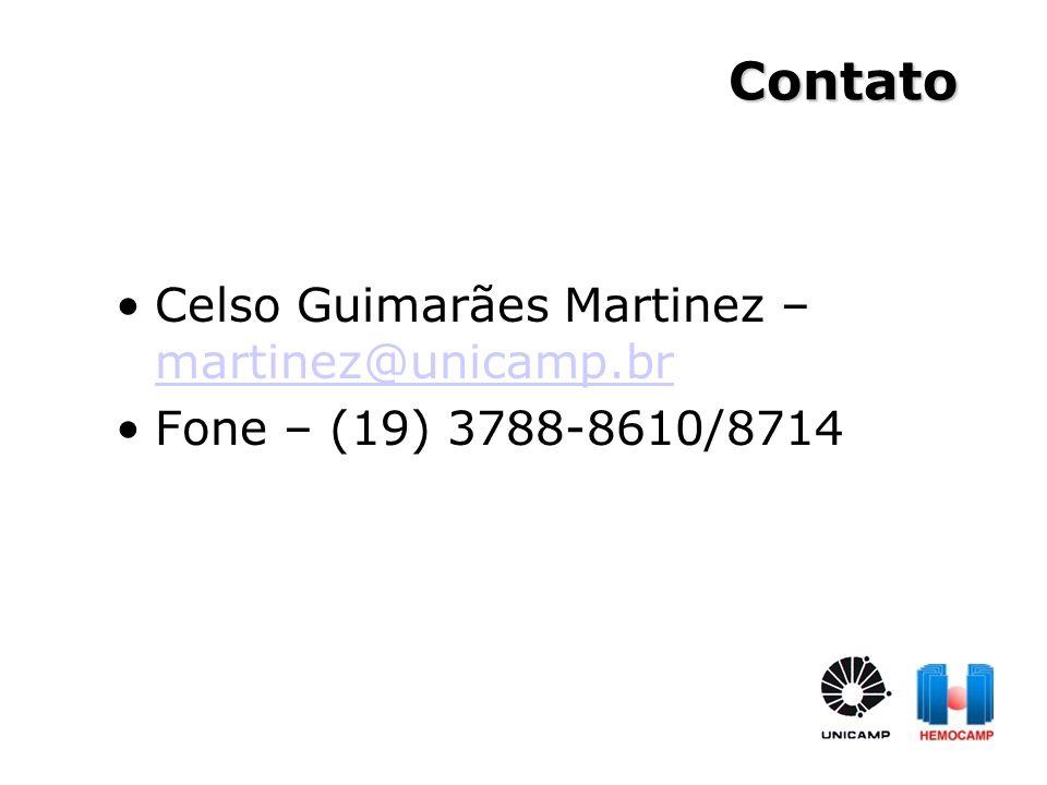 Celso Guimarães Martinez – martinez@unicamp.br martinez@unicamp.br Fone – (19) 3788-8610/8714 Contato