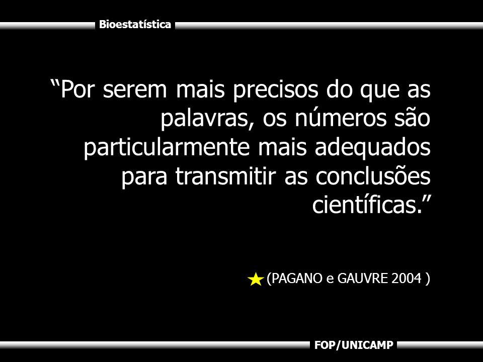 Bioestatística FOP/UNICAMP No entanto tal como se pode mentir com palavras, pode-se fazer o mesmo com números.