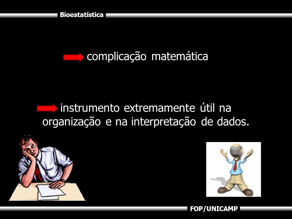 FOP/UNICAMP complicação matemática instrumento extremamente útil na organização e na interpretação de dados.
