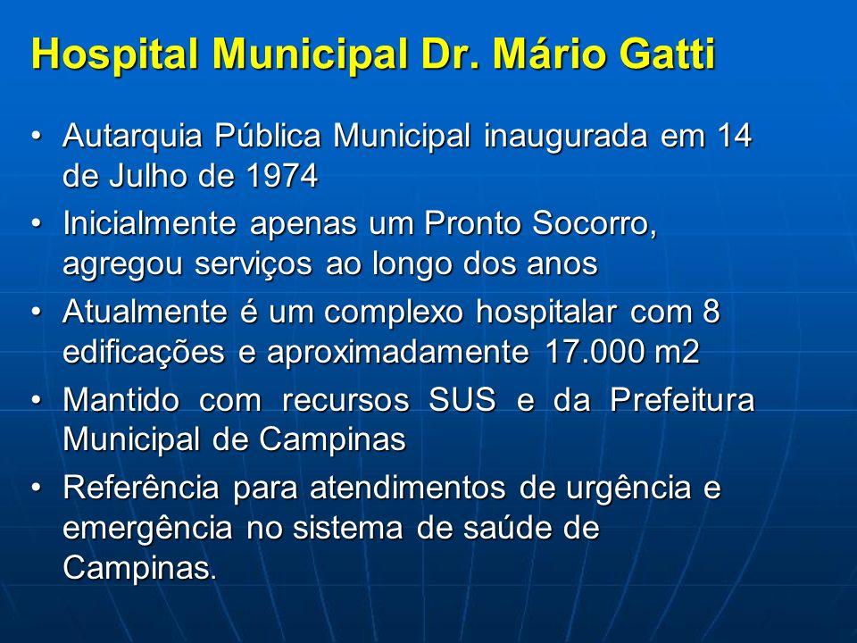 Hospital Municipal Dr. Mário Gatti Autarquia Pública Municipal inaugurada em 14 de Julho de 1974Autarquia Pública Municipal inaugurada em 14 de Julho