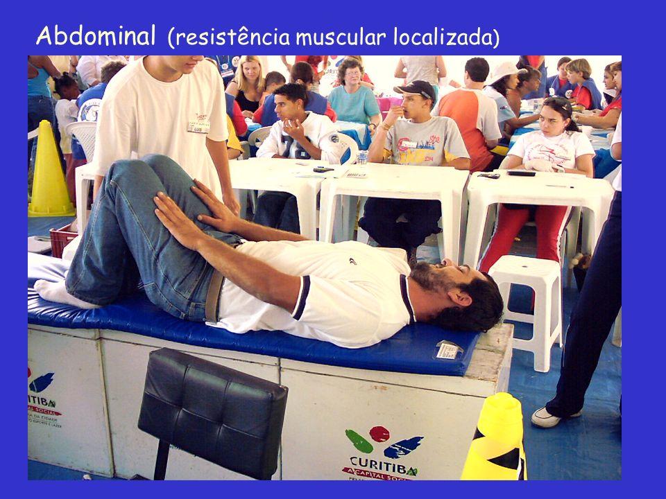 Abdominal (resistência muscular localizada )